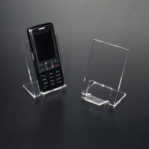 Mobiltelefonholder i klar akryl