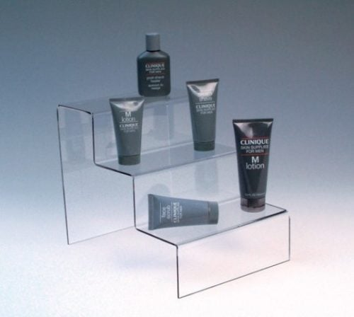 Display 3 trinn i klar akryl