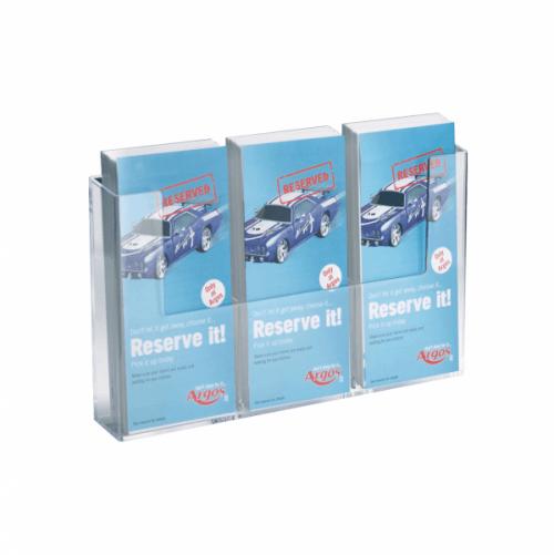 Brosjyreholder 3x1/3 A4 for veggmontering