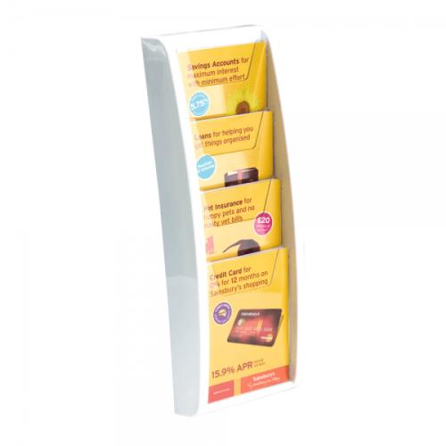 Brosjyrestativ for vegg i farge hvit
