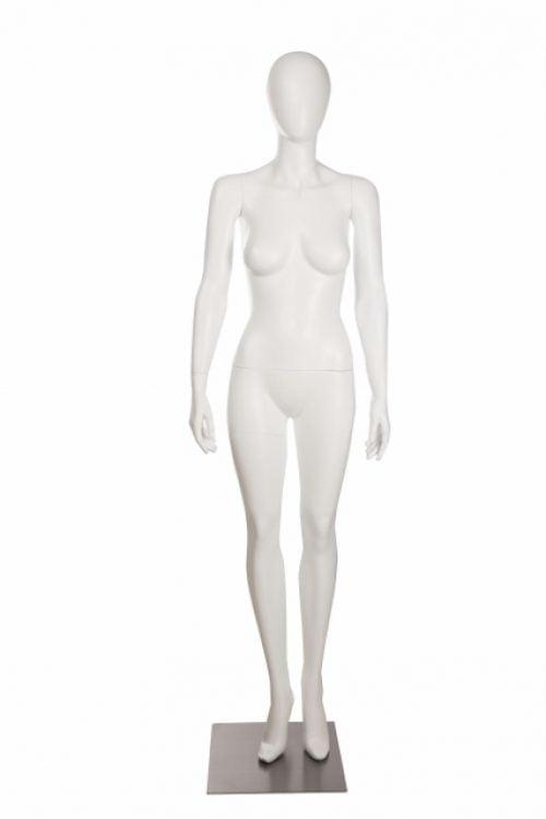 Utstillingsdukke dame OLW3 i farge matt hvit