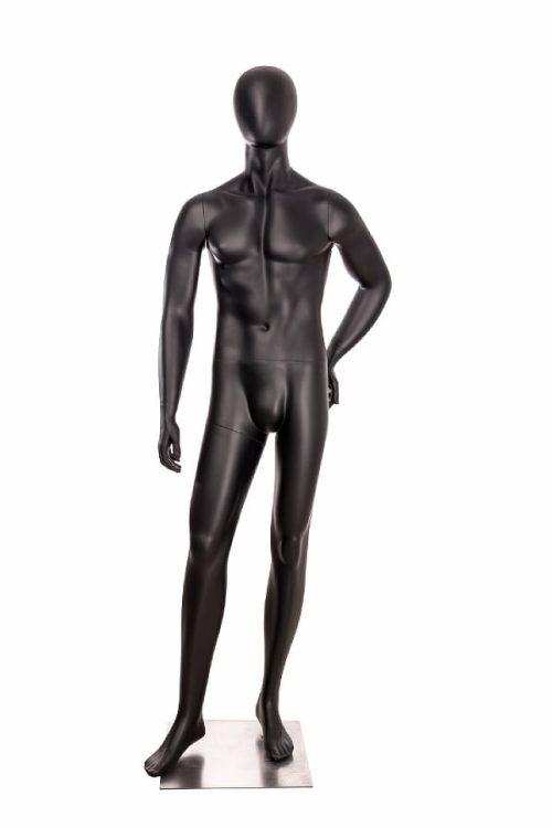 utstillingsdukke herre OMB12 i matt sort