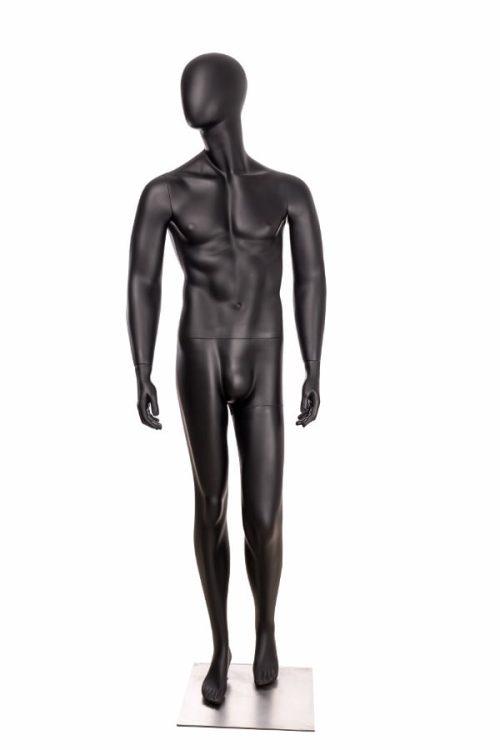 utstillingsdukke herre i farge matt sort